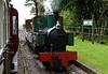 Axe, Woody Bay station, 8 September 2017.  The footplate experience train returns again, clearing the way for Isaac and its passenger train.