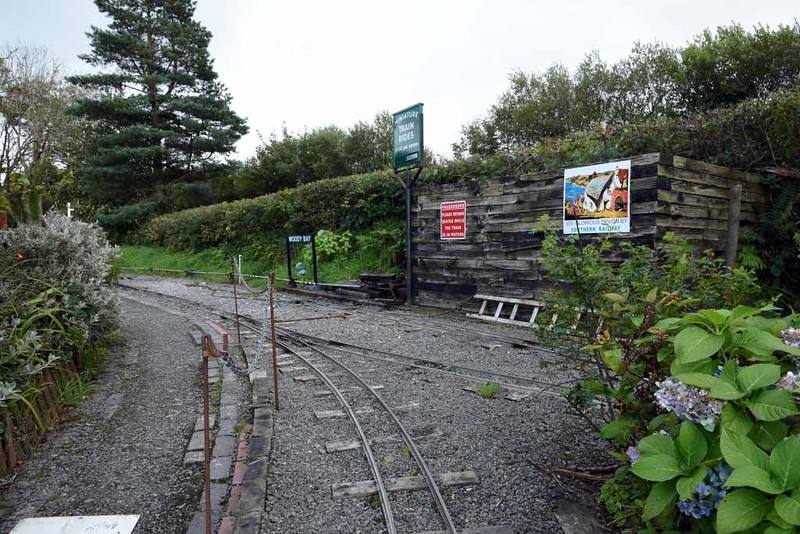 Miniature railway, Woody Bay station, 8 September 2017