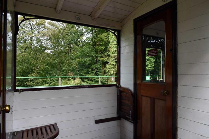 Lynton & Barnstaple Rly open centre third class coach 7, Woody Bay station, 8 September 2017 3.