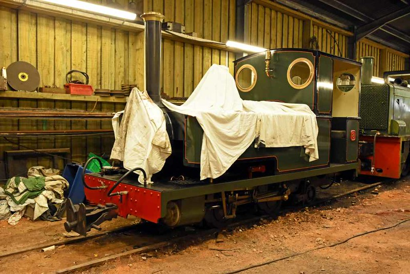 No 8 Faith, Woody Bay, 8 September 2017.  0-4-2T built privately by J Uphill of the Gartell Light Railway.