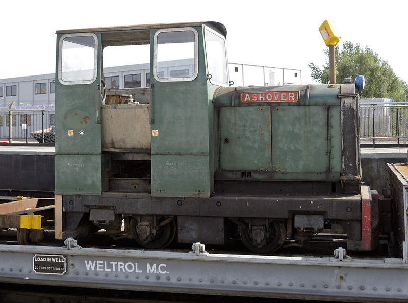 Ashover, National Railway Museum, York, Sat 8 September 2012.  Narrow gauge (1ft 11.5in) 4wDM built by Hibberd (3307 / 1948) for the Ashover Light Rly in Derbyshire, closed in 1950.