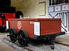Pen-yr-Orsedd quarry wagon No 41, Penrhyn Castle, Mon 22 August 2011.  3ft 6in gauge wagon used on the Nantlle Rly between Tal-y-Sarn and Pen-yr-Orsedd quarry.  It opened in 1828 and closed in 1963 and was worked by horses, latterly by tractors.  The wagon wheels are double-flanged and loose on their axles.  The track is a reconstruction of the 1828 original, with iron fish-belly rails in cast iron blocks on stone sleepers.