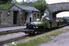 River Irt waits to cross another train at Irton Road, 9 June 1073.  Photo by Les Tindall.