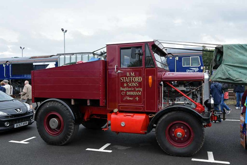Restored 1947 Scammell 15LA tractor, DRS open day, Kingmoor, Carlisle, Sat 22 July 2017.