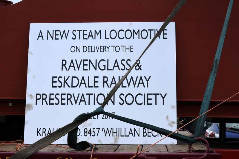 Whillan Beck, DRS open day, Kingmoor, Carlisle, Sat 22 July 2017 3.  The 15 inch gauge 4-6-2 was buillt by Krauss (Munich, 8457 / 1929) for a Spanish exhibition.  The exhibition closed in 1930 and 8457 did not work after 1932.  It is almost complete and in very good condition.  8457 came to Cumbria in February 2016 and has been overhauled by Old Hall Farm Engineering and Restoration, Bouth, for the Ravenglass & Eskdale Railway.