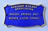 Heritage Railwy Association award, Ravenglass & Eskdale Railway museum, Ravenglass, Tues 20 March 2018.
