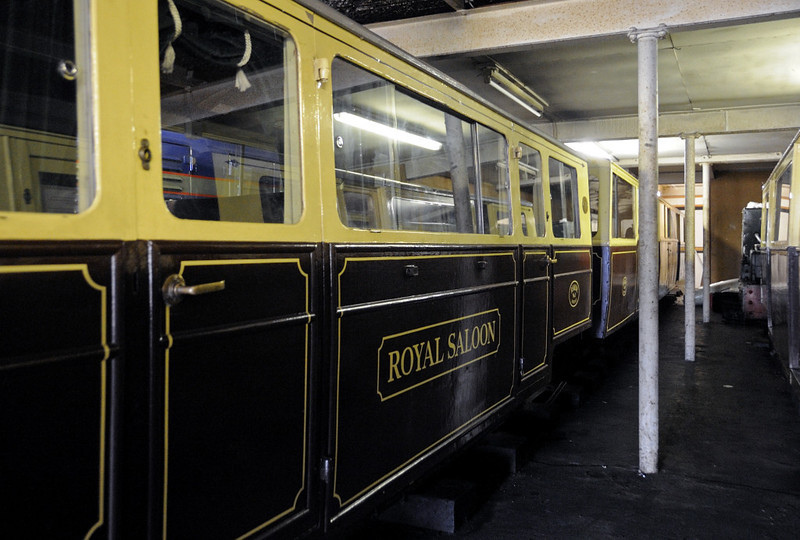 Royal saloon, New Romney, Fri 8 June 2012. The Queen has ridden in this twice, on the RHDR in 1957, and at Liverpool in 1984.