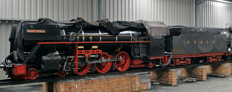 No 11 Black Prince, New Romney, Fri 8 June 2012.  Built in Germany in 1937 by Krupp, and wears German Rlys black and red.