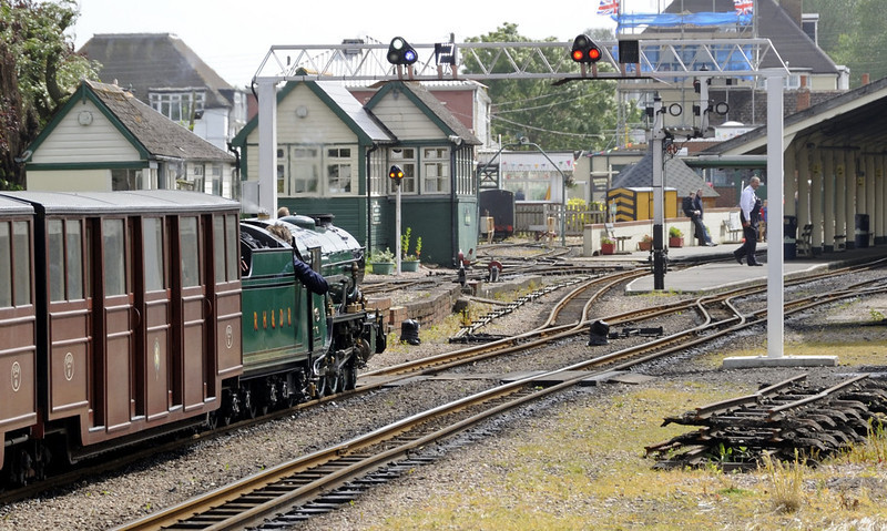 No 3 Southern Maid, New Romney, Fri 8 June 2012 - 1534 3.  NB the colour signals and platform indicator.