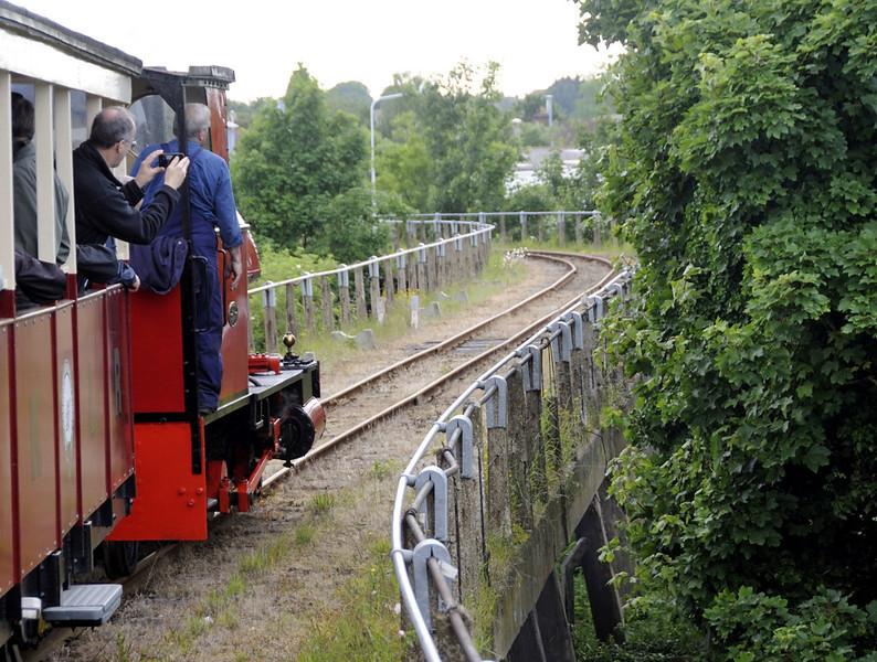 Leader, crossing Sittingbourne viaduct, Sat 9 June 2012 - 1802