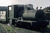 Unique, Sittingbourne? September 1969.  Bagnall 2-4-0F 2216 / 1923, still on the SKLR in 2012.  Photo by Les Tindall.