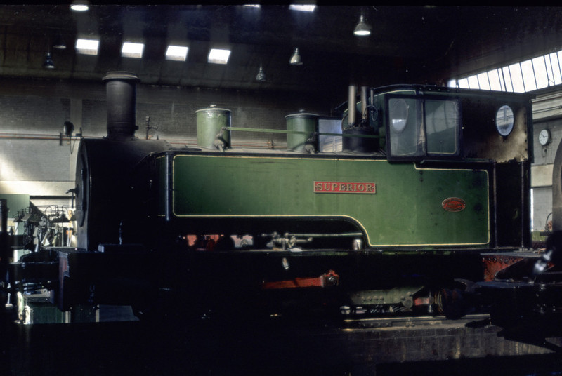 Superior, Kemsley mill, September 1969.  Kerr Stuart 0-6-2T 4034 / 1920, at the Whipsnade Zoo Rly in 2012.  Photo by Les Tindall.