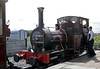 Dolgoch, Tywyn Wharf station, Thurs 25 August 2011 1.   Dolgoch is  an 0-4-0WT and is original to the Talyllyn, having been supplied in 1866 by Fletcher Jennings of Whitehaven (63 / 1866).  They had also supplied 0-4-2ST Talyllyn (42 / 1865), which was in traffic at the time of my visit but which eluded me.
