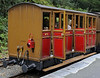 Talyllyn Rly coach No 2, Abergynolwyn, Thurs 25 August 2011.  One of the three original Talyllyn Rly carriages, supplied in 1866 by Brown, Marshalls & Co of Birmingham.