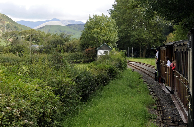 Tom Rolt, approaching Brynglas, Thurs 25 August 2011 - 1054.  Cader Idris (2930 ft) fills the background.
