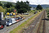 Cambrian coast line, Tywyn , Thurs 25 August 2011 2: Looking south past Wharf station.