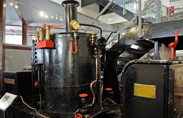 George Henry, Narrow Gauge Railway Museum, Tywyn, Thurs 25 August 2011.  Two foot gauge De Winton 0-4-0VBT built 1877, from Penrhyn quarry.