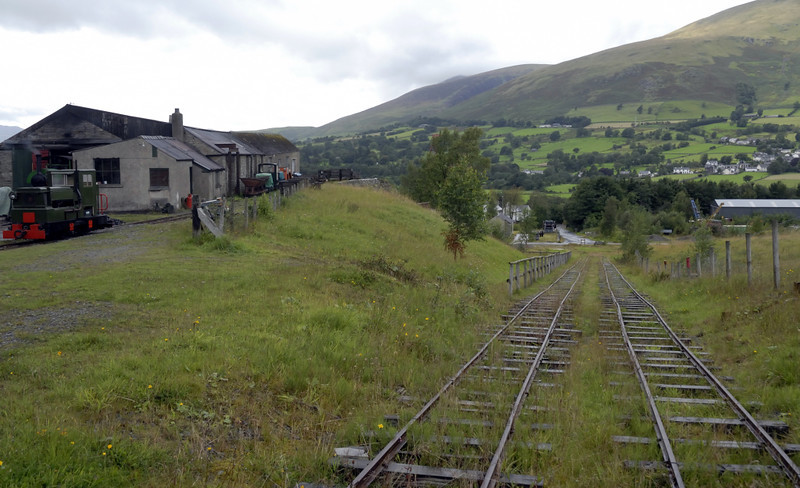 Inclined plane, Threlkeld, Sat 28 August 2010 2.    Looking north west, with the engine house at left.
