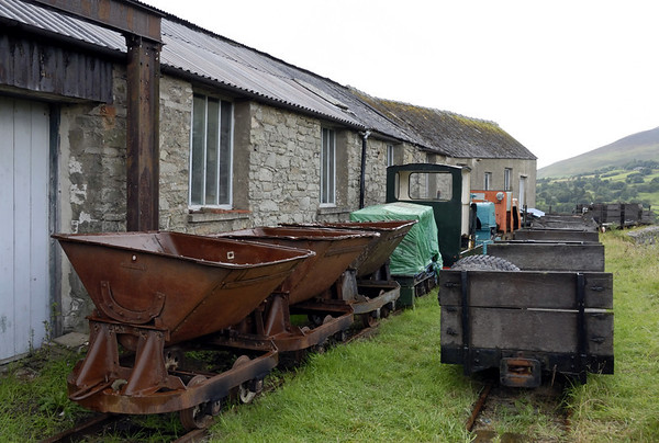 Wagons and locos outside the engine house, Threlkeld, Sat 28 August 2010
