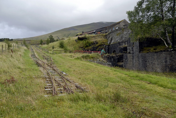 Inclined plane, Threlkeld, Sat 28 August 2010 1.     Looking south, with the engine house above at right.