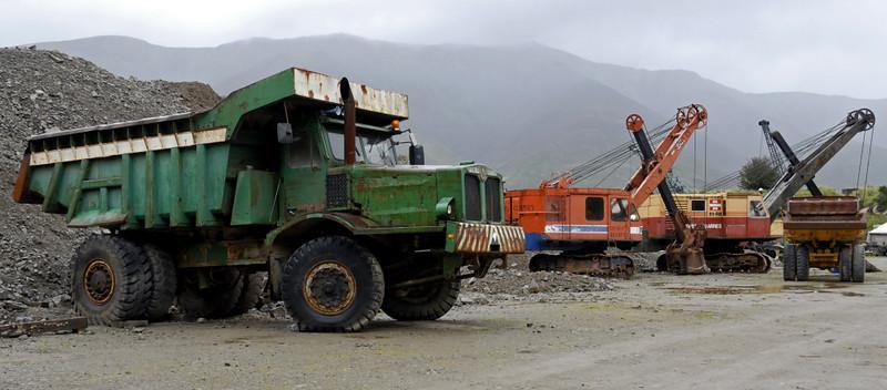 Aveling-Barford dumper truck and excavators, Threlkeld, Sat 28 August 2010