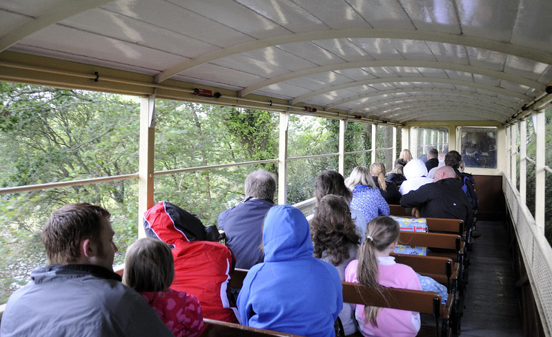 Inside an open carriage in the rain, near Capel Bangor, Wed 24 August 2011.