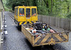 Thunderbird 4, Aberffrwd, Wed 24 August 2011 - 1114.  Permaquip 4wDH trolley and trailer, built in 1985.