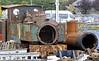No 7 Owain Glyndwr boiler and Bagnall 0-4-4T No 18-BG, Aberystwyth, Wed 24 August 2011 2.