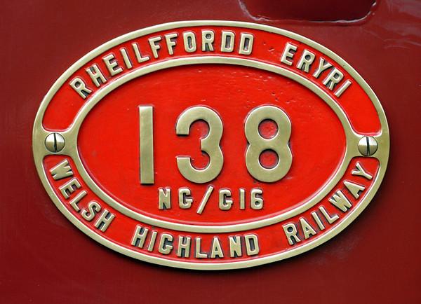 Welsh Highland Rly No 138, Rhyd Ddu, Mon 22 August 2011 - 1109 4.
