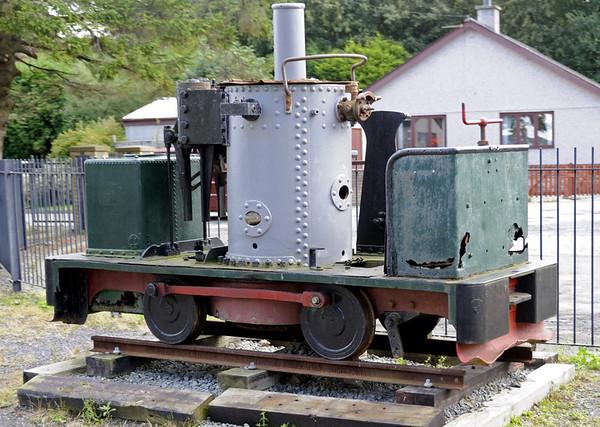[Llanfair], Dinas, Mon 22 August 2011 - 1202.  Three foot gauge 0-4-0VBT built in 1895 by the Caernarforn engineering firm De Winton.