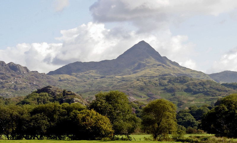 The handsome peak of Cnicht (2260ft) from near Hafod y Llyn, Mon 22 August 2011 - 1017.