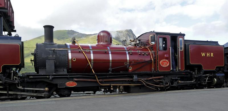 Welsh Highland Rly No 138, Rhyd Ddu, Mon 22 August 2011 - 1109 2.