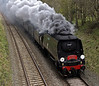 34067 Tangmere, 1Z87, Lazonby, Thurs 12 April 2012 - 1506.  Tangmere clags south in fine style towards Appleby.