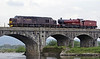 37706 & 5972 Hogwarts Castle, 0Z37, Arkholme, Mon 19 May 2014 - 1640.  A York - Carnforth move with the Hall dead in tow.