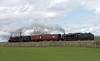 48151 & 45690 Leander, 5M51, Capernwray, Wed 14 April 2016 - 1157.  A tender-first test run to Hellifield with coach 80217.