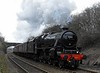 45212, 5M50, Carnforth, Fri 3 March 2017 - 1300.  Warm side rod bearing fixed, the Black 5 sets off on a successful loaded test run.  The consist was 35517, 3395, 3352, 6724, 6103, 6000, 6115 & 99680, and 37518 was on the rear.