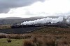 37518, 44871 & 45407 (as 45157) The Lancashire Fusilier, 5Z60, Greenholme, Wed 28 March 2018 - 0934.  WCRC's 0850 Carnforth - Fort William stock move for the start of the Jacobite season.  The consist was 35517, 35508, van 94225, 99326, 99329, 21266, 1840, 4951 & 3093.