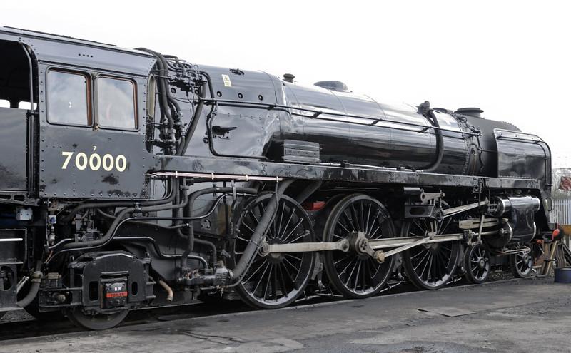 70000 Britannia, Crewe heritage centre, Sat 12 March 2011 2