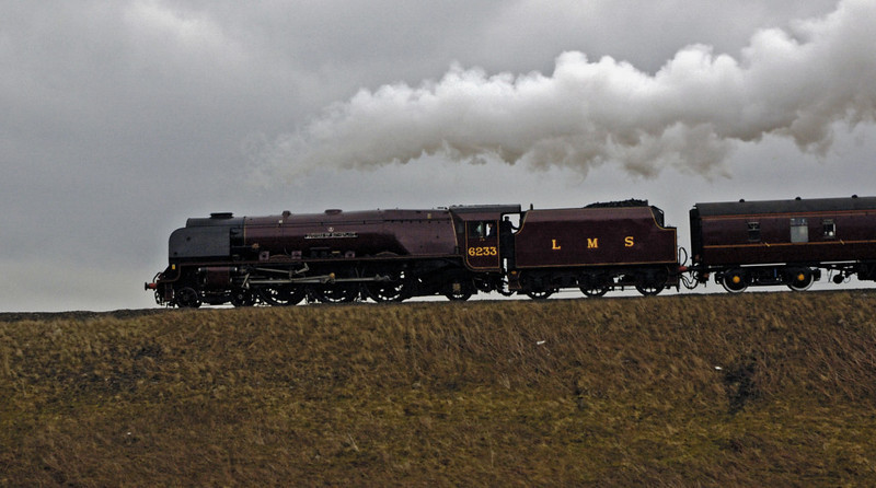 6233 Duchess of Sutherland, Garsdale, 22 March 2005 4.