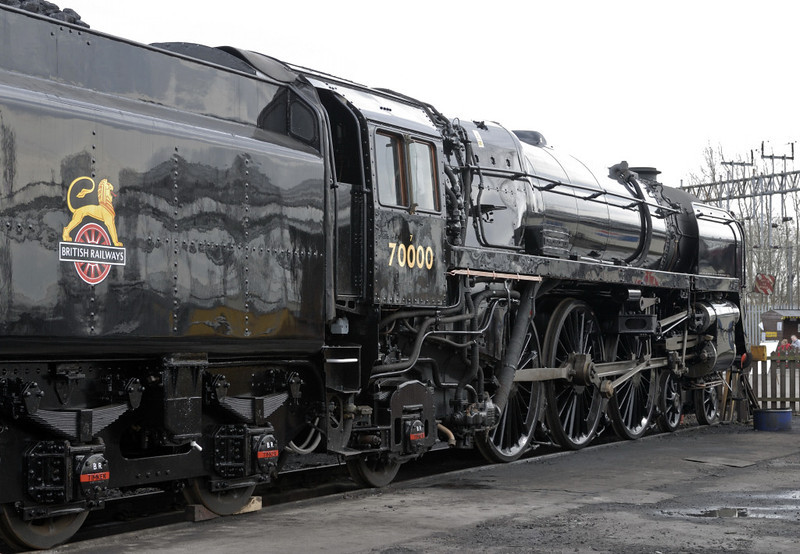 70000 Britannia, Crewe heritage centre, Sat 12 March 2011 3