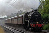45407 The Lancashire Fusilier, 1Z23, Carnforth, 20 June 2007 - 1847.  The Black 5 accelerates into the rain after a water stop at Carnforth while working the Railway Touring Co's Cumbrian Mountain Express from Manchester to Carlisle via Settle and back via Shap.