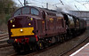 37706 & 34067 Tangmere, Lancaster, 8 April 2009 - 1839 1    From Preston, Tangmere and its ECS was taken to Carnforth by 37706.