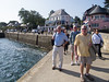 The group prepares to board a vessel for a sightseeing cruise among the islands of the scenic Golfe du Morbihan.