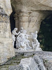 Even grottoes in secluded side gardens are decorated with statuary.