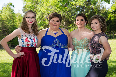 Brittney, Emily, Cherith, and Samantha Prom 2017 (2)