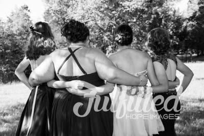 Brittney, Emily, Cherith, and Samantha Prom 2017 (5)
