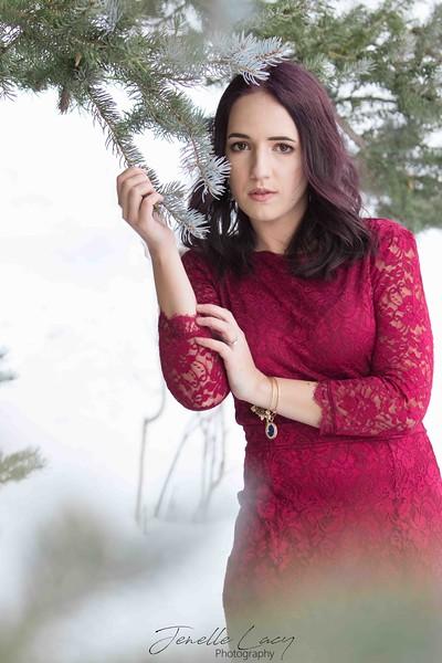 Brittney in snow