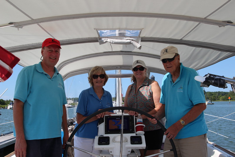 The crew of Dreamtime with Capt. Jim Borberg