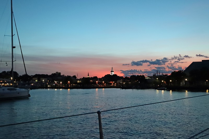 Annapolis skyline from the moorings