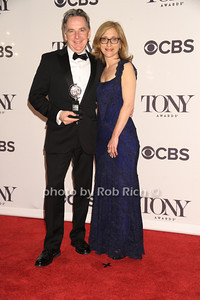 James Houghton,- Founding Artistic Diredtor and Erika Mallin - Executive Director  win for the Signature Theater Company - Regional Theater Special Tony Award photo by Rob Rich/SocietyAllure.com © 2014 robwayne1@aol.com 516-676-3939
